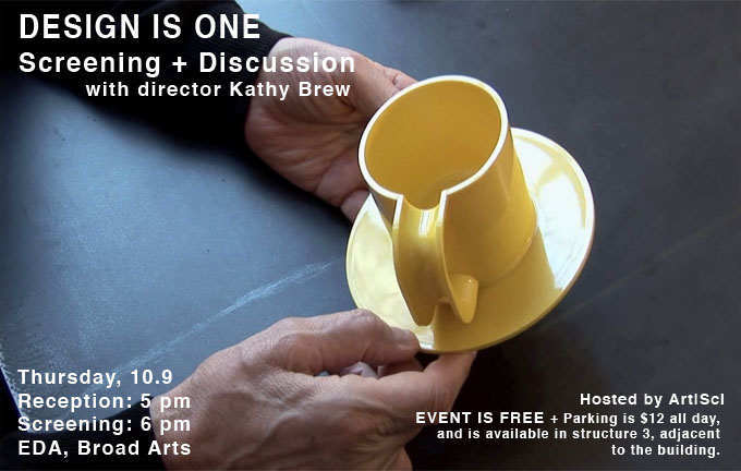 DESIGN IS ONE: Screening + Discussion, 10.09.14